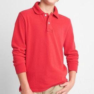 Gap | Red Uniform Long Sleeve Polo